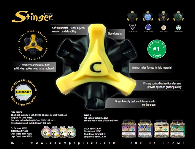 Champ Scorpion Stinger Golf Shoe Spikes