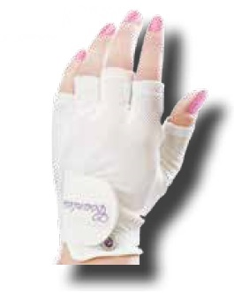 Ladies Countess Half-Finger Gloves