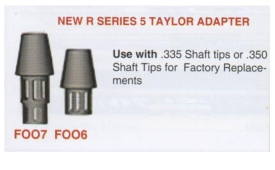 New R Series 5 TaylorMade Adapter